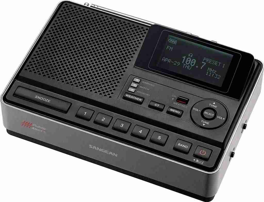 Sangean CL-100 NOAA, S.A.M.E and Public Alert Certified Weather Alert Table-Top Radio with AM/FM-RBDS