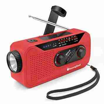 Emergency NOAA Weather Crank Solar Powered Portable Radio