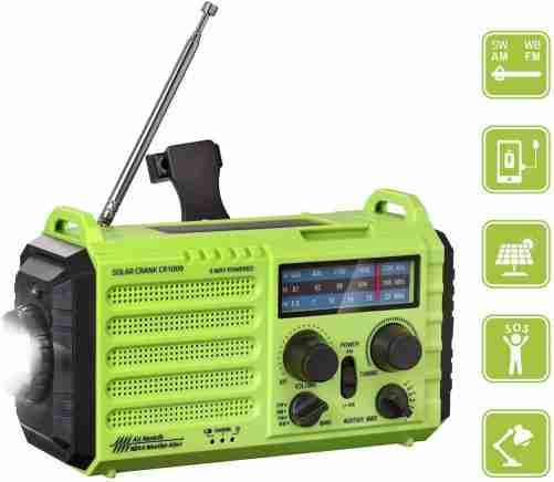 Rocam Emergency Hand Crank Portable Radio Solar Power Camping