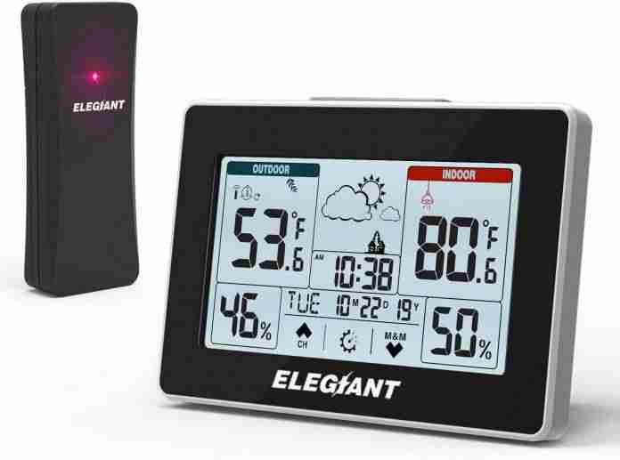 ELEGIANT Wireless Weather Station – Budget-friendly option