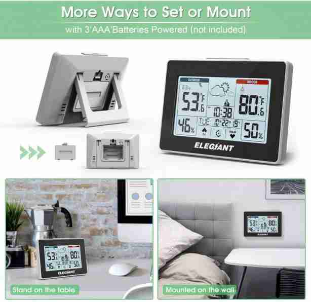 ELEGIANT Wireless Weather Station – Budget-friendly option