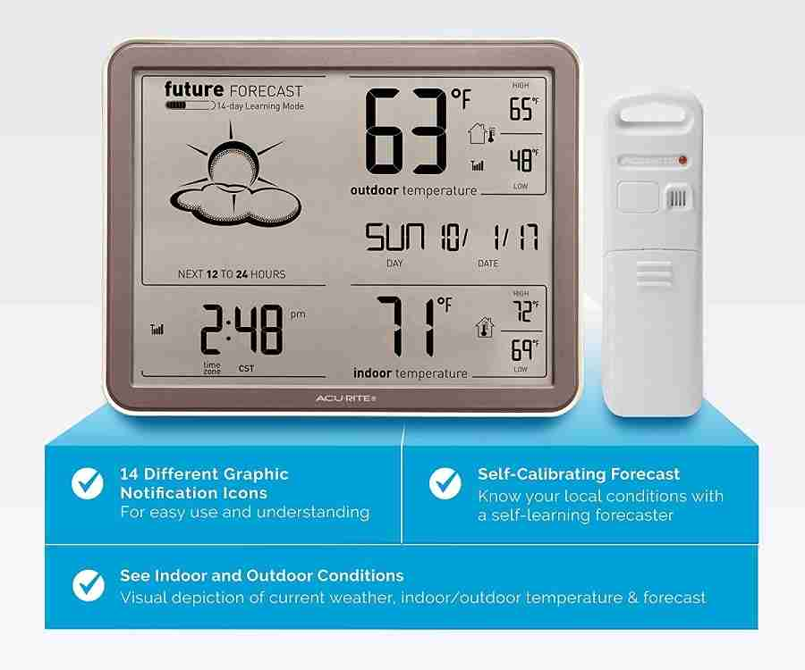AcuRite 75077A3M Self-Learning Forecast Wireless Weather Station