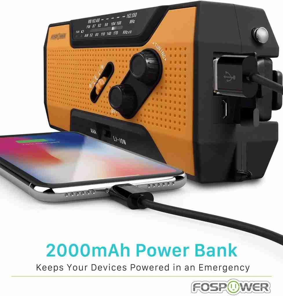 FOSPOWER 2376 Solar Hand Crank Radio Review